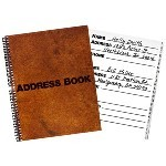 Large Text Address Book